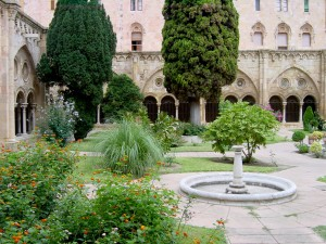The cloister: in Tarragona's Santa Maria cathedral.