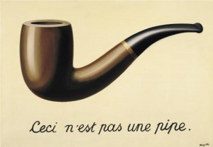 http://www.wikipaintings.org/en/rene-magritte/the-treachery-of-images-this-is-not-a-pipe-1948
