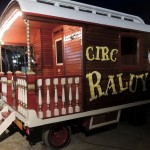One of the refurbished antique circus caravans.