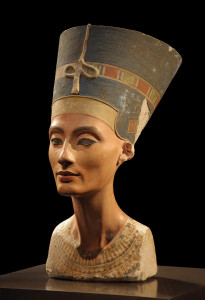 The Nefertiti bust in the Neues Museum. Creative Commons, photo by Philip Pikart.